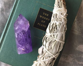 Large Purple Amethyst Crystal Point Monument