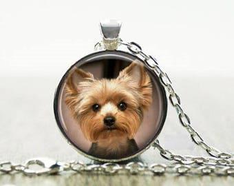 Yorkie pendant etsy yorkie necklace 3 yorkie puppy pendant yorkie puppy keychain yorkshire terrier necklace aloadofball Choice Image
