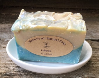 Lollipop, Goat Milk Soap, Kaolin Clay Soap, Shea Butter Soap, Phthalate Free Fragrance Soap