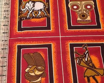 African Quilt Blocks, Wax Print, 4 Blocks Per Order, African Free Trade