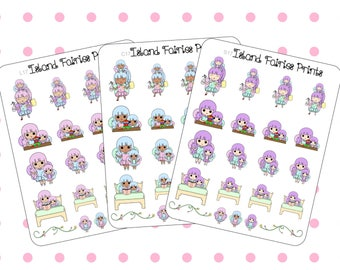 Mom Life Toddler Girl Fairies Planner Stickers C17 S17 L17