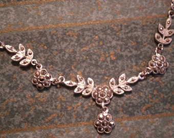Vintage marcasite necklace