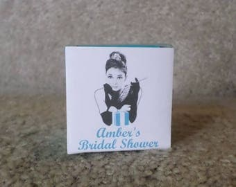 12 PERSONALIZED Breakfast at Tiffany's Bridal Shower Favor Boxes