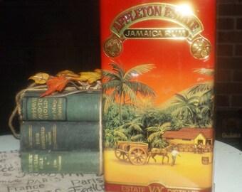 Vintage (c.1992) Appleton Estate Jamaica Rum X/V lithographed, hinged tin. Tin manufactured in England.