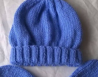 Baby hat and gloves set