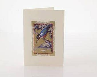 Art Deco Greetings Card: Birds by VINTAGE PLAYING CARDS