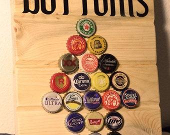 Bottoms Up Bottle Cap Sign