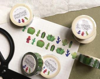 Sprinkle Prickles - Cactus Washi Tape (PREMIUM)