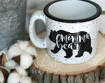 Momma Bear || Campfire Mug || 15 ounce || Coffee Mug