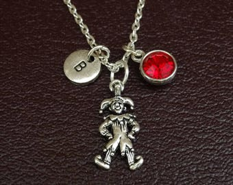 Clown Necklace, Clown Charm, Clown Pendant, Clown Jewelry, Clown Lover Gift, Circus Clown Necklace, Circus Necklace, Circus Jewelry