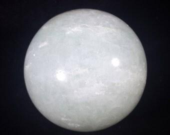 LARGE PRASIOLITE Sphere Natural Stone Hand Carved Gemstone Sphere [6]