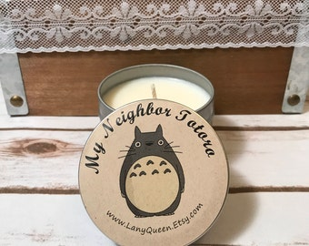 My Neighbor Totoro Natural Soy Wax Candles, Scented Candles, Handmade Candles, Themed Candles, Colored Candles, Totoro