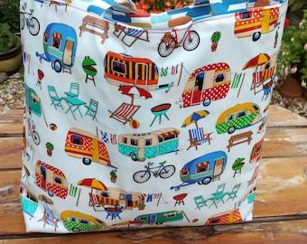 Bag.  Tote Bag. Caravans. Getaway. Holiday.