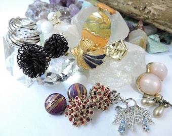 Earring Lot,Clip on Earrings,Jewelry Lot E29