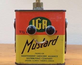 Robot, robot sculpture, assemblage art, robots, assemblage, found object art, found object robot, metal robot