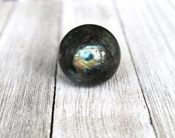 ONE Labradorite Crystal Sphere, Labradorite Ball, Base Chakra Healing, Meditation Ball Gift For Him, Spiritual Reiki Gift Rock, Birthday