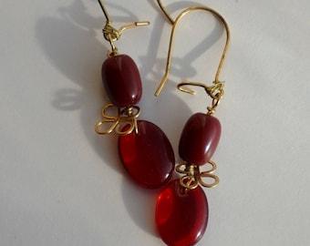 Blood flower earrings