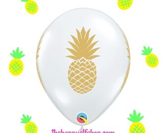 "11"" Pineapple clear latex balloon. pineapple balloon. pineapple balloons. latex balloons. clear latex pineapple. party supplies. tutti."