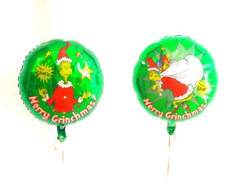 """18"""" GRINCH balloon. Christmas decor. Christmas party supplies. Christmas balloons. GRINCH balloons. Christmas eve decor. grinchmas"""