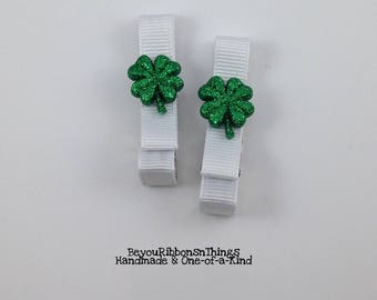 hamrocks | Glitter Green | Hair Clips for Girls | Toddler Barrette | Kids Hair Accessories | No Slip Grip | Christmas | St Patrick's