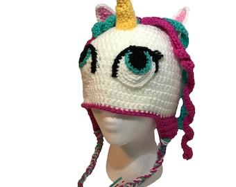 Unicorn Hat, Unicorn Crochet Hat, Girls Hat, Child Hat, Character Hat, Animal Hat, Magical Unicorn Hat, Mystical Unicorn Hat, Winter Hat