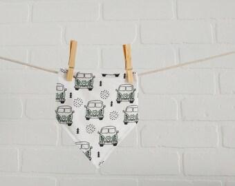 Bus Wagon VW Bavoir bandana Bavette, cadeau naissance, voiture, van / Bus Wagon vw bandana bib, Hippie Bus, Shower gift