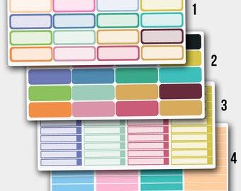 Quarter Box Stickers, Quarter Box Planner Stickers, Quarter Box Erin Condren, Blank Stickers, Blank Planner Stickers, Blank Box Sticker