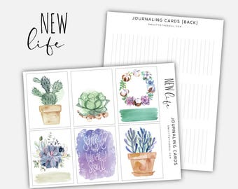 "Soul Inspired - ""New Life"" Journaling Cards Printable - digital download"