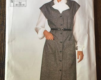 SuperSaver 636, Vintage Sewing Pattern, Simplicity Patterns, Vintage Jumper, Vintage Clothing, Clothing Patterns,1990's Clothing
