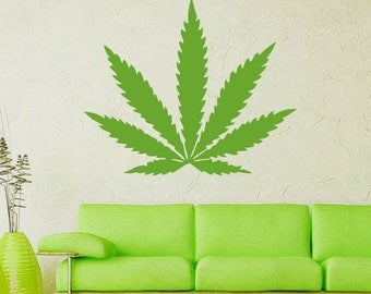 Marijuana Wall Decal Cannabis Leaf Vinyl Sticker Decals Home Decor Bedroom Art Design Interior Ns973