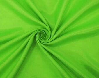 "Green Shantung Fabric, Dress Material, Silk Dupioni Fabric, Home Decor Fabric, 42"" Inch Wide Fabric By The Yard ZSH2G"