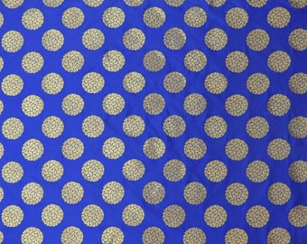 """Royal Blue Brocade Fabric, Paisley Embroidery, Wedding Fabric, Home Decoration, 49"""" Inch Jacquard Fabric By The Yard ZB251A"""