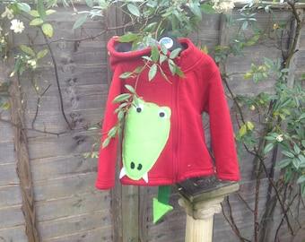 OOAK dinosaur hoodie