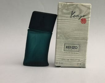 Kenzo POUR HOMME 5ml/ o,17 oz EDT 1991 vintage perfume miniature in box