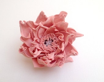 Girlfriend|gift salmon hair flower Delicate hair summer trend Stylish accessory apricot hair ties teen gift peach Fashionable style beige