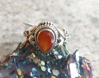 Dainty Carnelian Ring Size 5