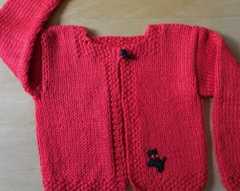 Red baby sweater | Etsy