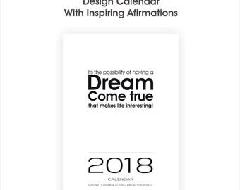 2018 Afirmations Calendar | Motivation Calendar