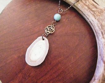 Deer antler jewelry, antler necklace, boho necklace, bone necklace, rustic necklace, long necklace, antler jewelry