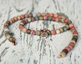 beads om necklace ohm charm charm neckalces mala beads women gift yoga meditation tibetan om jewelry gemstones healing stones