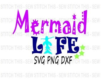 Mermaid life svg, Mermaid svg, Beach svg, Summer svg, Little mermaid svg, Mermaid clip art, Mermaid, Mermaid life, Beach life, Vacation svg