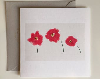 Poppies in the Wind - Greeting Card