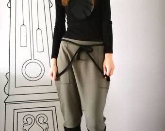 NEW Womens Drop Crotch Sweatpants / Harem Pants / Casual Harem Skinny Sweatpants by FabraModaStudio / P412