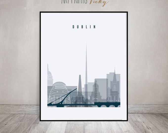 Dublin Wall art, Dublin Poster, Dublin skyline, Dublin print, Travel poster, Home Decor, Gift, Wall decor, ArtPrintsVicky