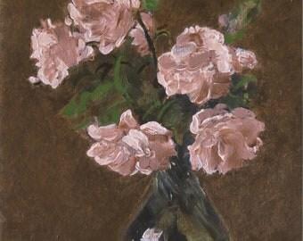 Kwiaty - według Henri  Fantin-Latour