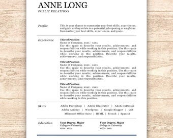 Pastry Chef Resume Excel Creative Resume Template Resume For Word  Pages Resume Adjectives For Resumes with Restaurant Resume Pdf Resume Template Resume Sale Instant Download Resume Professional Resume Cover  Letter  Operations Manager Resume Examples