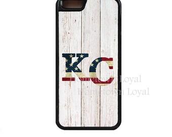 KC USA phone case.White panel. Kansas City case.KC phone case.Crown Town case.Kc iPhone case.Kc Samsung case.American Flag.Stars & Stripe