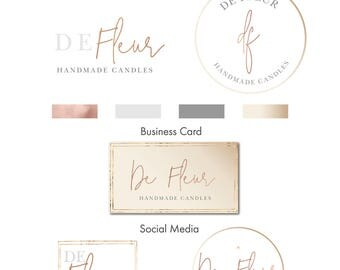 Gold Logo, Logo,  Gold, Logo Design, Branding kit, Premade Logo, Watermark, Stamp logo, Photography Logo, Business Card, Social Media,