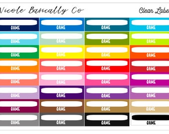 Rainbow Game Labels Planner Stickers