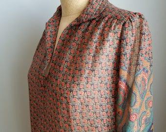 vintage boho sheer dress top tunic
